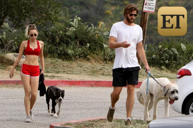 *EXCLUSIVE* Miley Cyrus looks extremely fit while hiking with boyfriend Liam Hemsworth